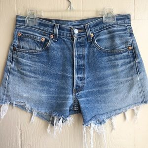 Vintage 501 High Waisted Cut Off Levi Shorts